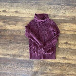 LL Bean Signature Cotton Funnel-neck/Cowl Sweater